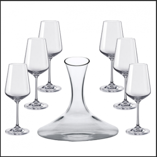 BOHEMIA Crystal 捷克進口水晶紅酒套件1+6