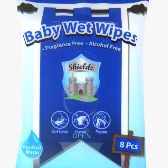 Shieldz純水嬰兒濕紙巾8片裝