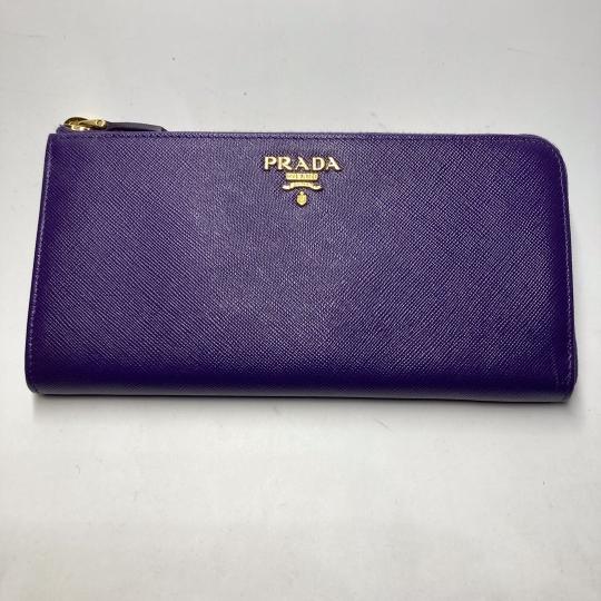 Prada 紫色拉鍊真皮銀包 $4300.- $3800 (1)