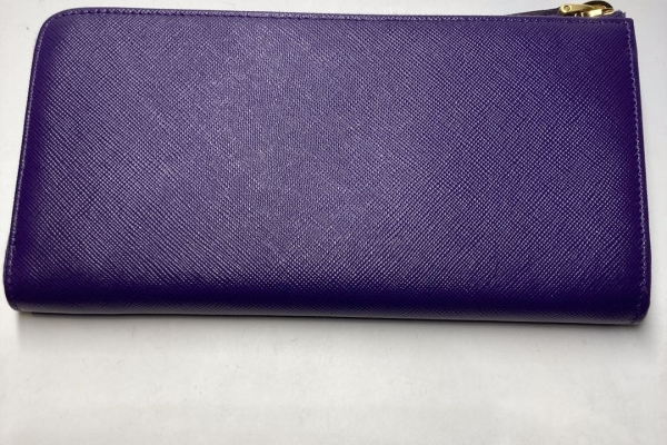 Prada 紫色拉鍊真皮銀包 $4300.- $3800 (2)