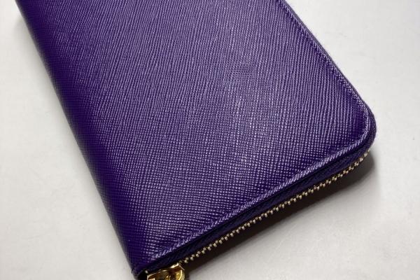 Prada 紫色拉鍊真皮銀包 $4300.- $3800 (9)