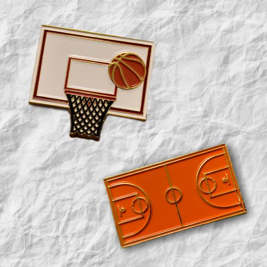 原創運動胸針(basketball)