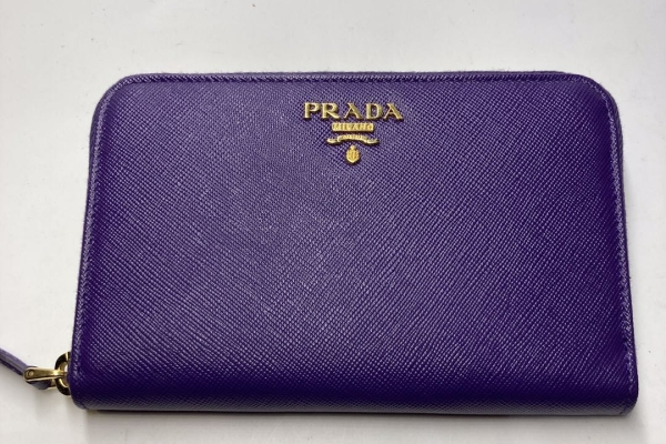 Prada 紫色拉鍊真皮銀包 $4300.- $3800 (8)