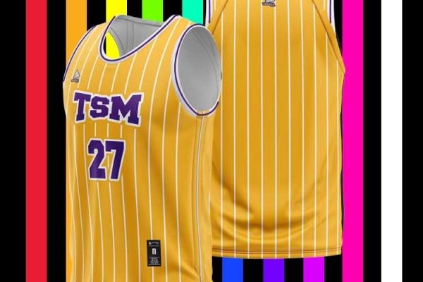 原創休閒籃球 服—TSM(yellow)