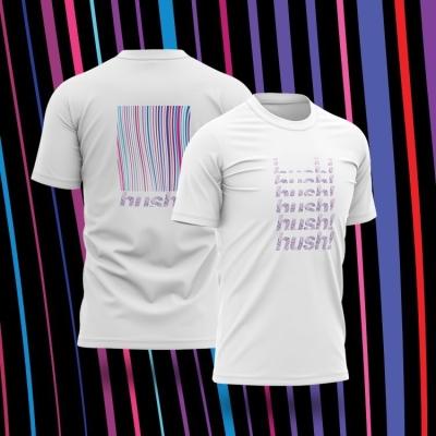 Hush 主題 T-shirt (White)