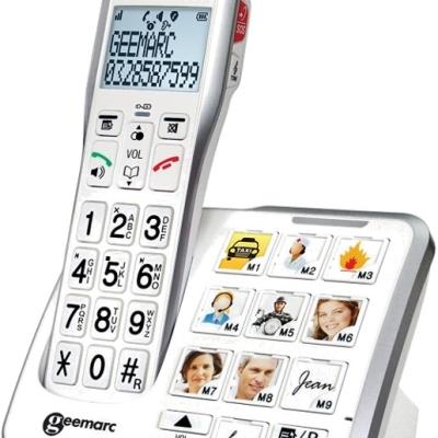 法國Geemarc無線擴音電話(含相片撥號功能)