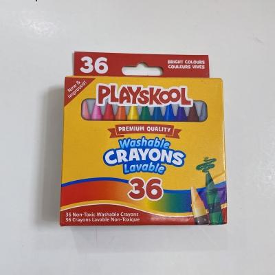 36 色可水洗蠟筆