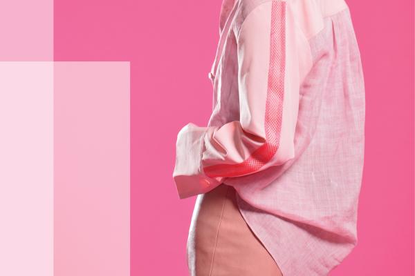 拼接襯衫 - 粉紅 (3)