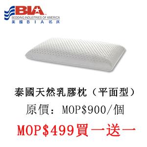 泰國天然乳膠枕(平面枕)