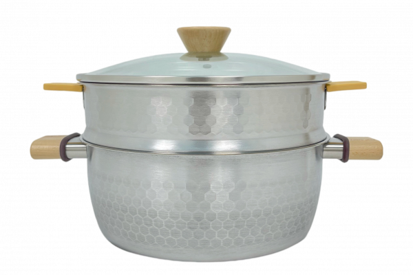 不鏽鋼雪平蒸鍋 24cm